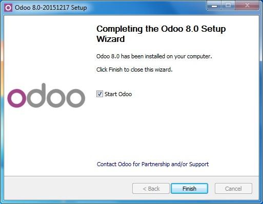 Cài đặt thành công phần mềm ERP miễn phí OPOO 8.0.20151217