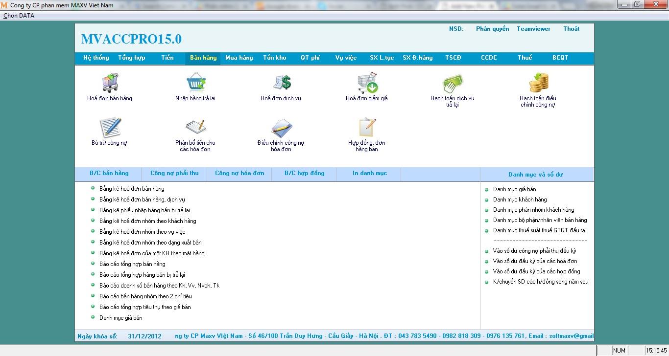 Phần mềm quản lý doanh nghiệp miễn phí