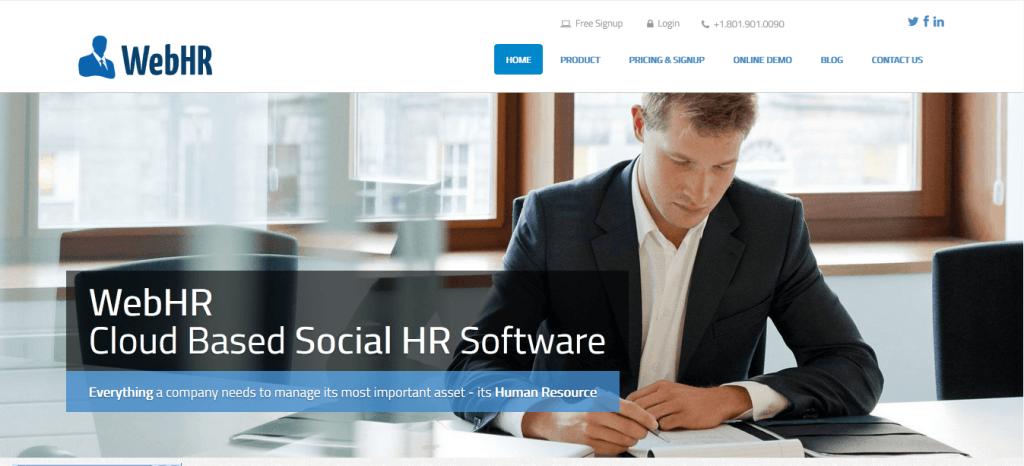 quản lý nhân viên bằng phần mềm WebHR