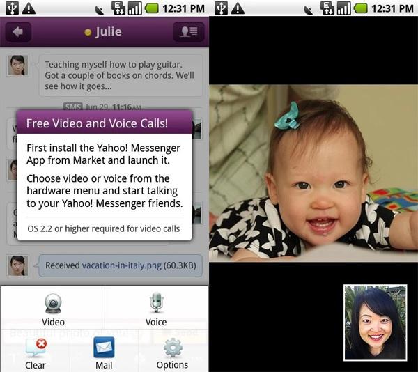 Các phần mềm nhắn tin miễn phí gọi điện video trên PC - Yahoo