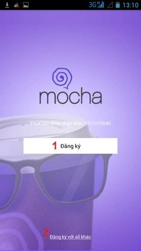 Đăng ký sử dụng Mocha Messenger