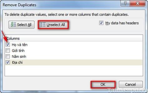 phần mềm lọc email trùng