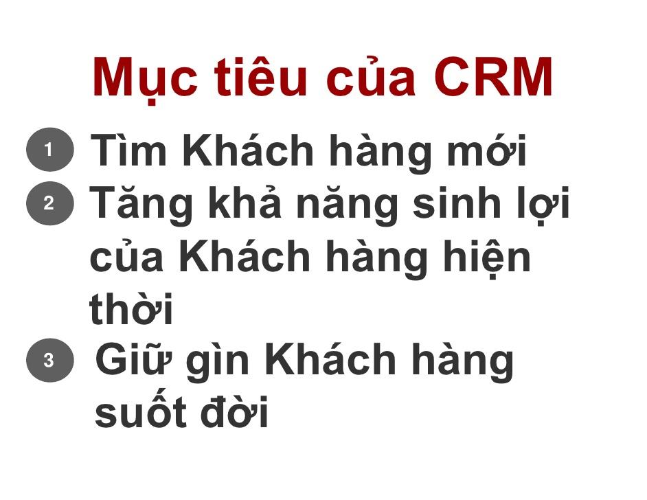 Mục tiêu CRM