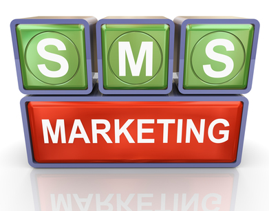 3d render of buzzword sms marketing