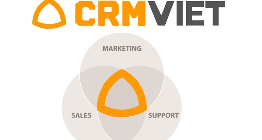 Logo CRMVIET sale - support - marketing