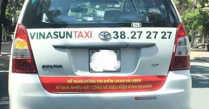 Vinasun phan doi uber grab