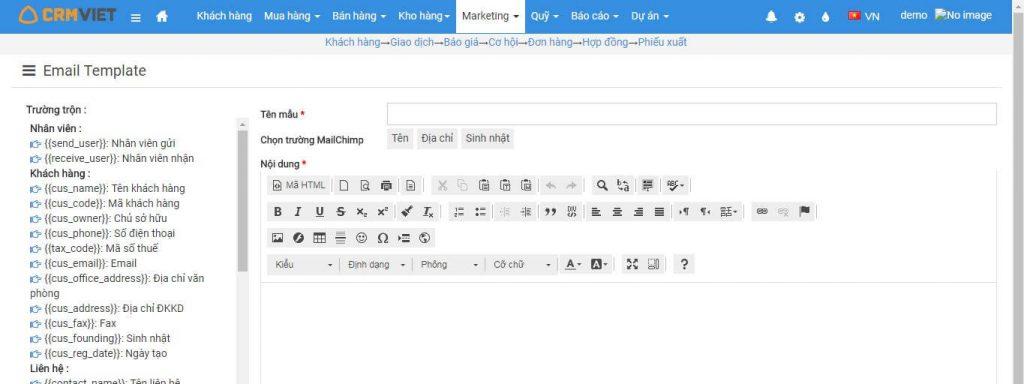Tạo email theo nhóm nhân vật sự kiện