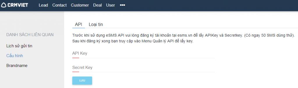 Đăng ký sử dụng SMS Brandname