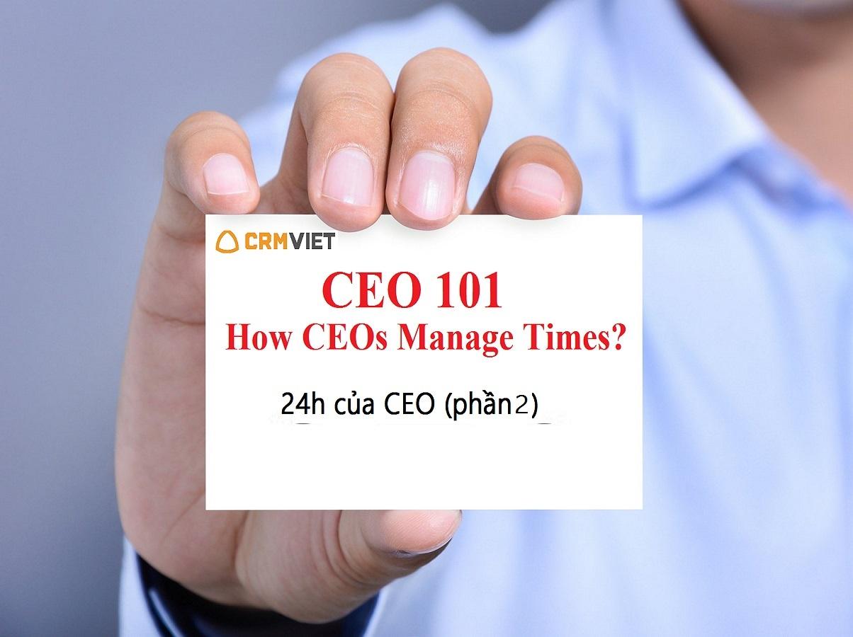 CEO quản lý thời gian