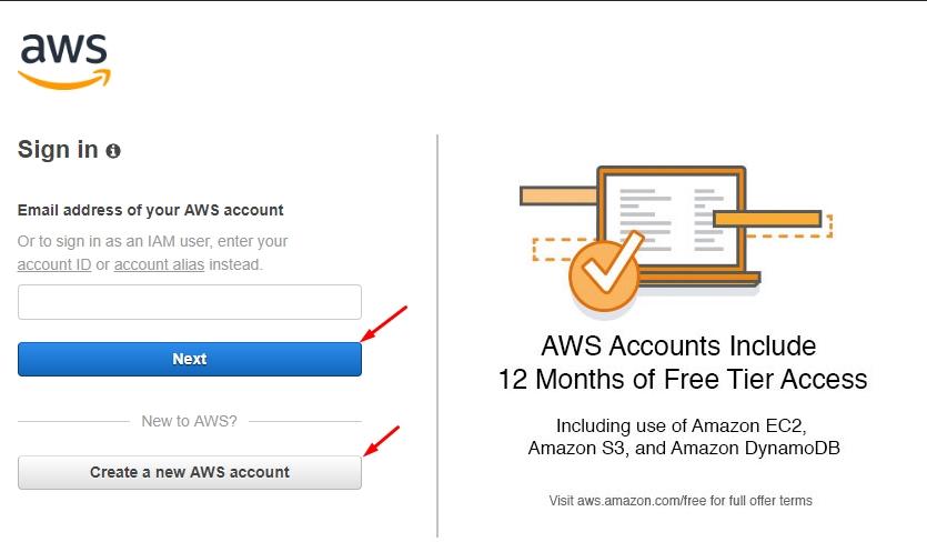 Giao diện đăng ký Amazon SES