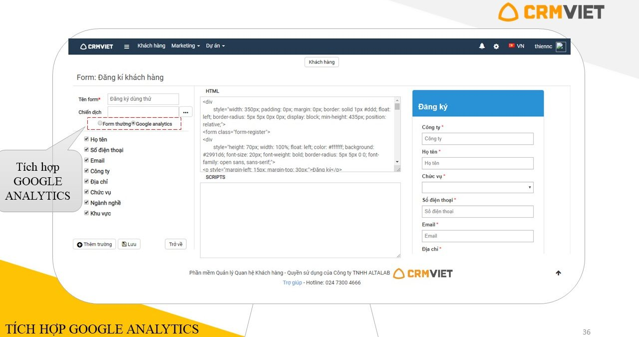 Dùng thử phần mềm CRMVIET