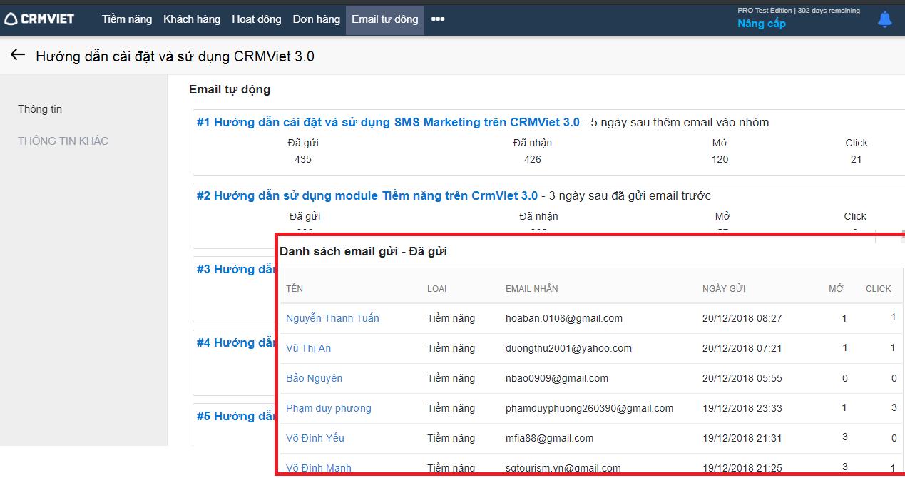 Tính năng Automation Marketing trên CrmViet
