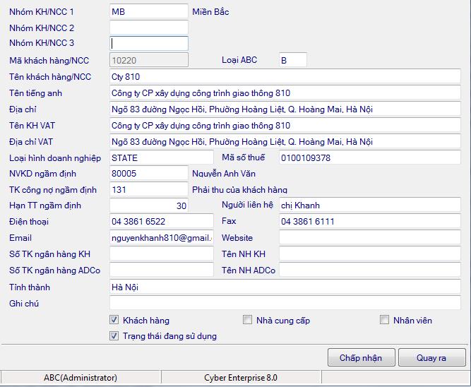 Phần mềm quản lý bán hàng offline Cybersoft