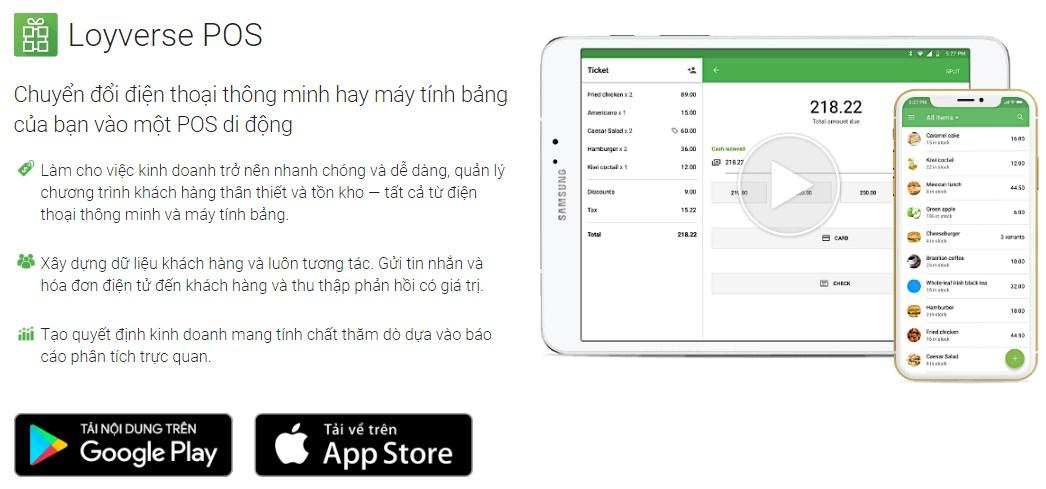 Ứng dụng quản lý bán hàng miễn phí trên điện thoại