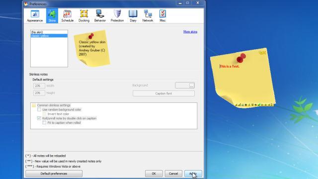 phần mềm nhắc nhở công việc pnotes