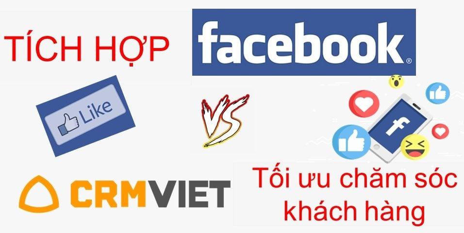 Tích hợp facebook trên dịch vụ phần mềm CRM