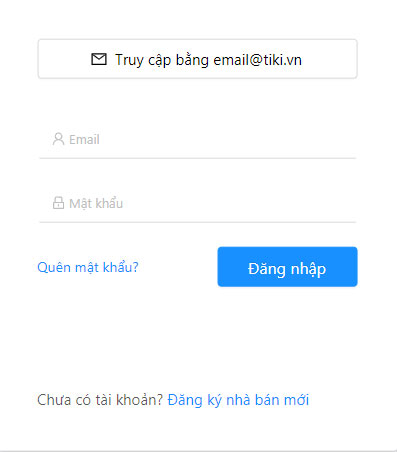 Đăng ký tài khoản bán hàng trên Tiki