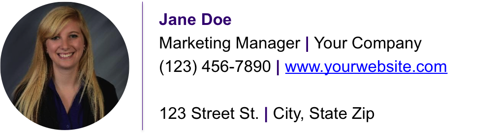 CrmViet - Mẫu Business email signature kèm avatar