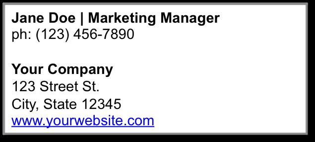 CrmViet - Mẫu business email signature 1