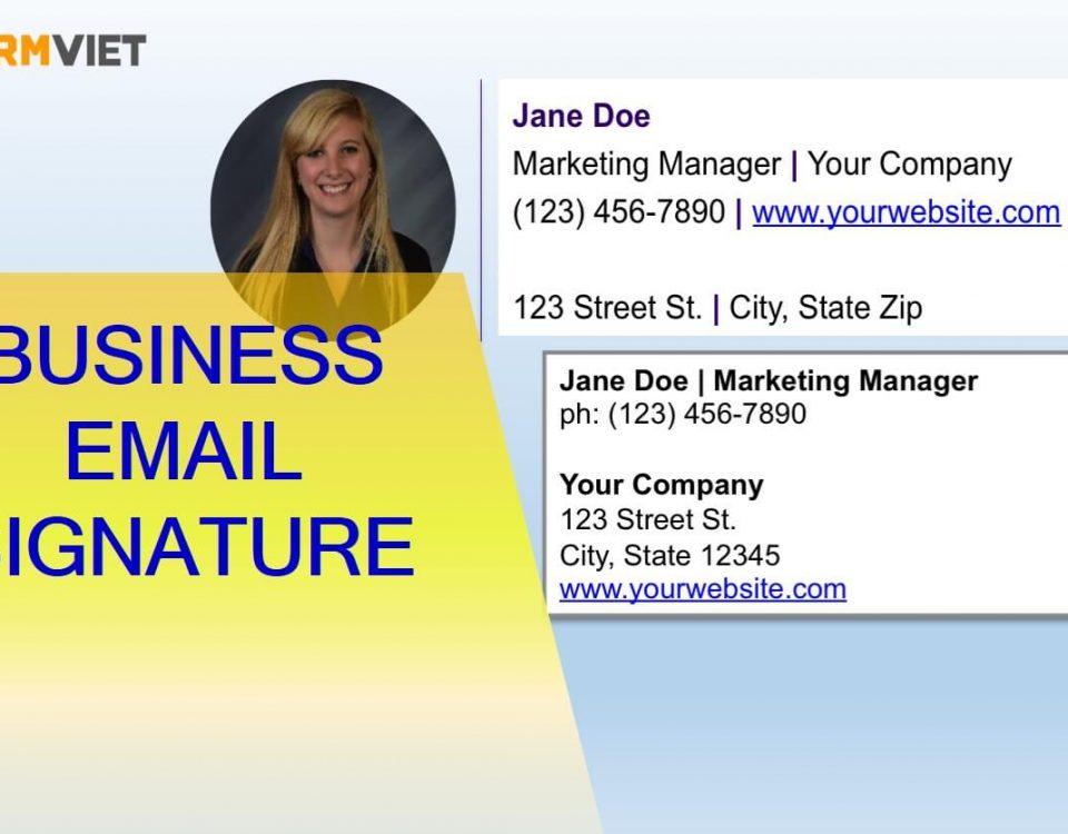 Nguyên tắc xây dựng Business Email Siganture chuyên nghiệp