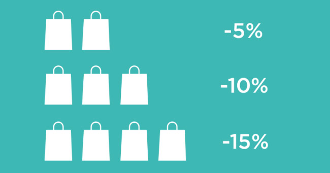 Giảm giá khi mua nhiều sản phẩm