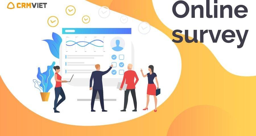 Tính năng survey phần mềm quản lý khách hàng CrmViet