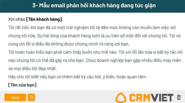 mẫu thư phản hồi khách hàng